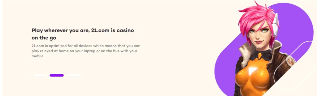 21com casino mobile app